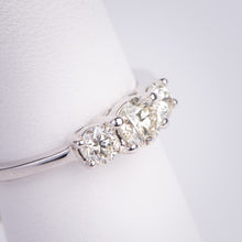 Load image into Gallery viewer, 14kt White Gold Three Stone Diamond Ring