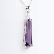 Load image into Gallery viewer, Fancy 14Kt White Gold Amethyst Pendant