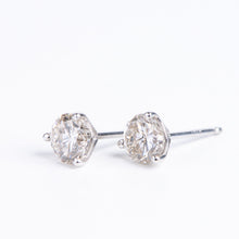 Load image into Gallery viewer, 14kt White Gold Diamond Studs  .22 ctw Diamonds