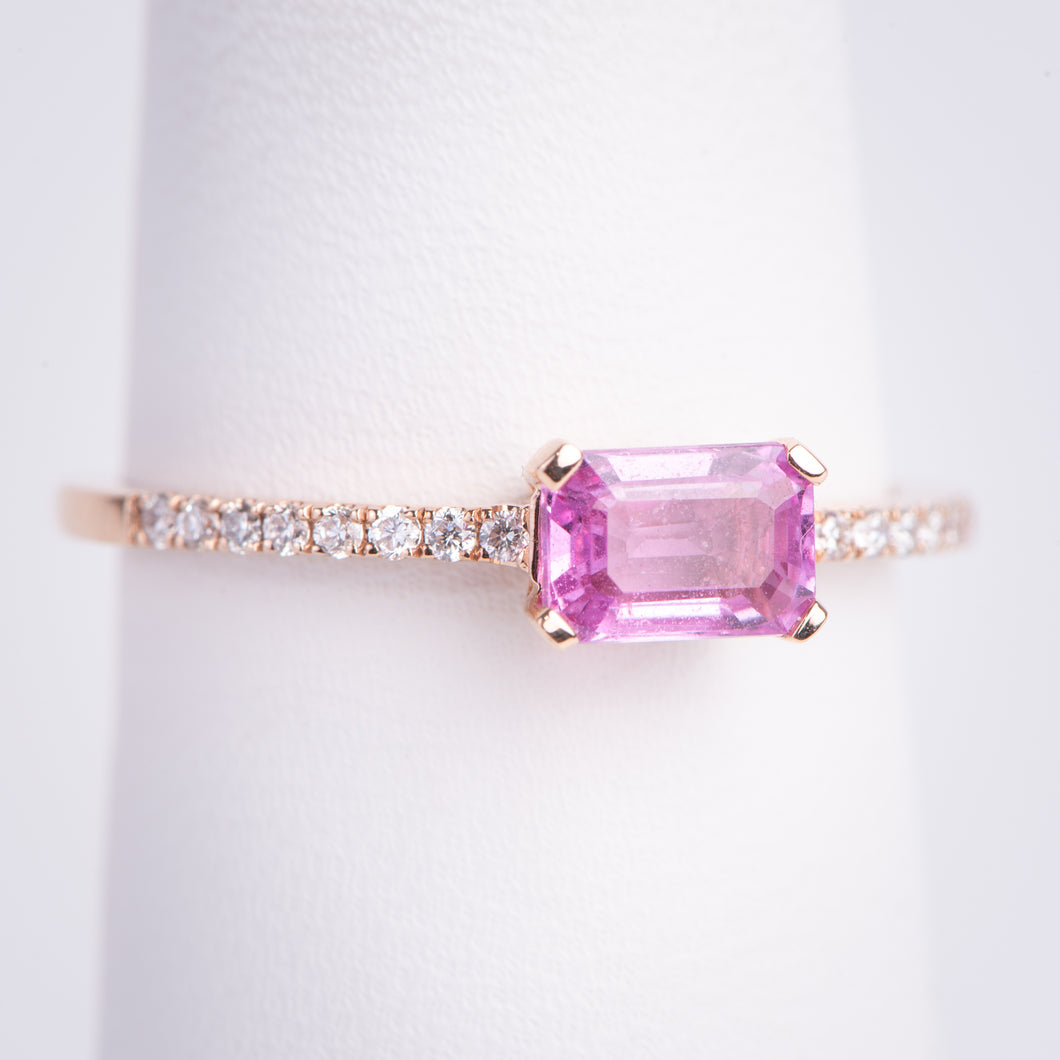 14kt Rose Gold Natural Pink Sapphire Ring