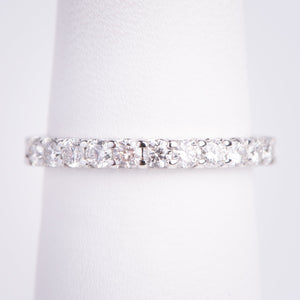 f 14kt White Gold Diamond Band