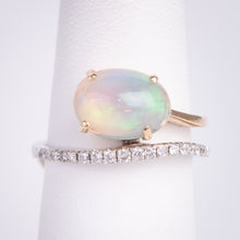 Load image into Gallery viewer, 14kt Yellow and White Gold 1.08 Opal .20 ctw Diamond