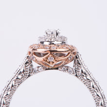 Load image into Gallery viewer, 14kt White and Rose Gold Diamond Engagement Ring