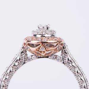 14kt White and Rose Gold Diamond Engagement Ring