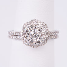 Load image into Gallery viewer, 14kt White Gold Diamond Engagement Ring and Wedding Band