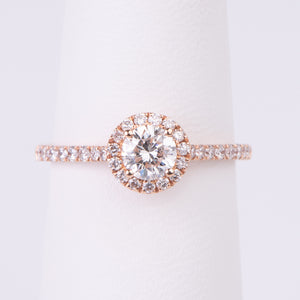 14kt Rose Gold Diamond Engagement Ring