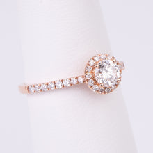 Load image into Gallery viewer, 14kt Rose Gold Diamond Engagement Ring