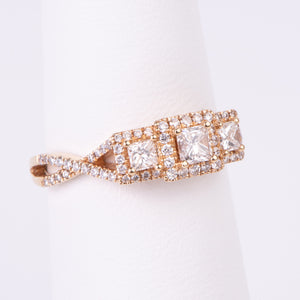 14kt Yellow Gold Diamond Engagement Ring