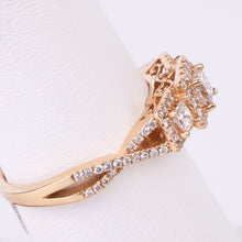 Load image into Gallery viewer, 14kt Yellow Gold Diamond Engagement Ring