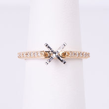 Load image into Gallery viewer, 14kt Yellow Gold Diamond Engagement Semi Mount Ring