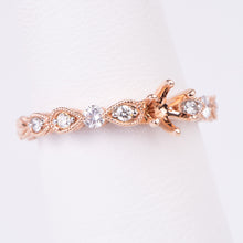 Load image into Gallery viewer, 14kt Rose Gold Diamond Engagement Semi Mount Ring