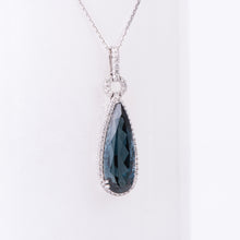 Load image into Gallery viewer, 14kt White Gold London Blue Topaz Pendant