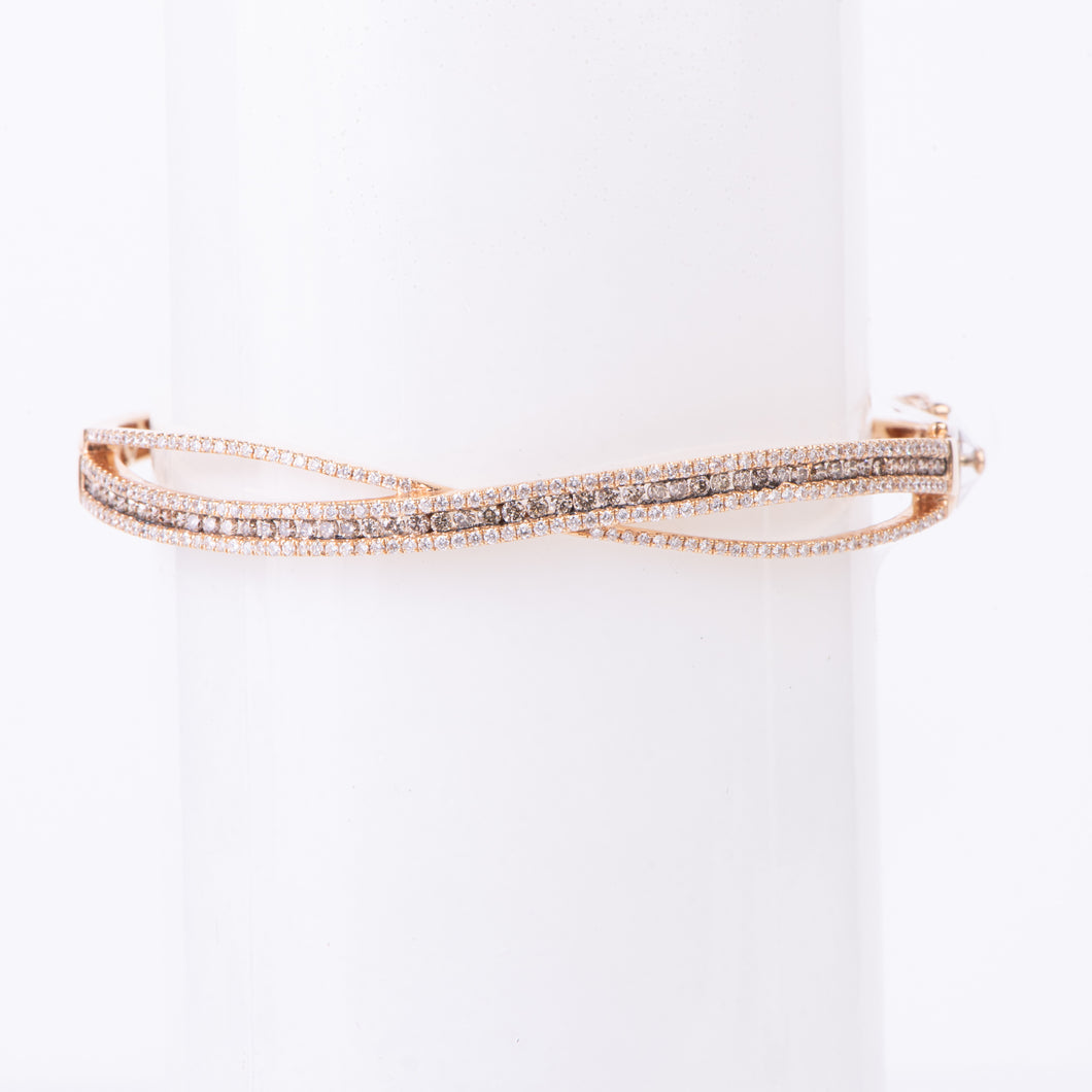 18kt Gold Diamond Bangle Bracelet