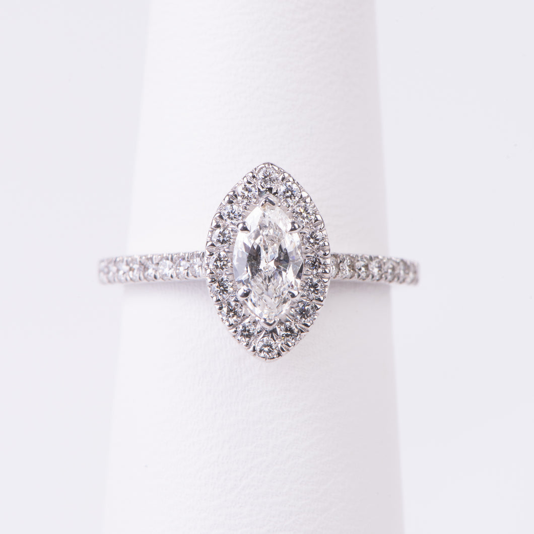 14kt White Gold Diamond Engagement Ring
