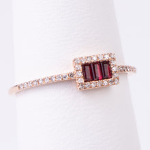 Load image into Gallery viewer, 14kt  Rose Gold Ruby and Diamond Ring