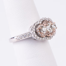 Load image into Gallery viewer, 14kt White and Rose Gold Diamond Ring