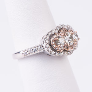 14kt White and Rose Gold Diamond Ring