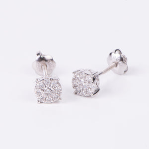 14kt White Gold Diamond Studs