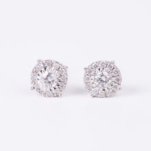 Load image into Gallery viewer, 14kt White Gold Diamond Studs