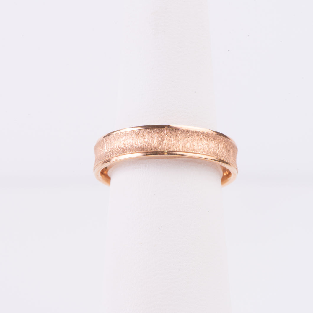 Men's 10kt Rose Gold Wedding Band