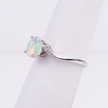 Load image into Gallery viewer, 14kt White Gold Opal and Diamond Ring