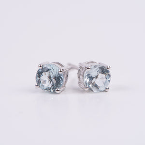 14kt White Gold Aquamarine Earrings