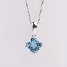 Load image into Gallery viewer, 14kt White Gold Blue Topaz Pendant
