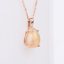 Load image into Gallery viewer, 14kt Rose Gold Opal Pendant