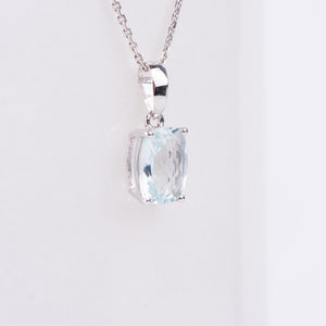 14kt White Gold Aquamarine Pendant