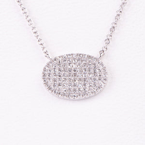 14kt White Gold  Diamond Pendant