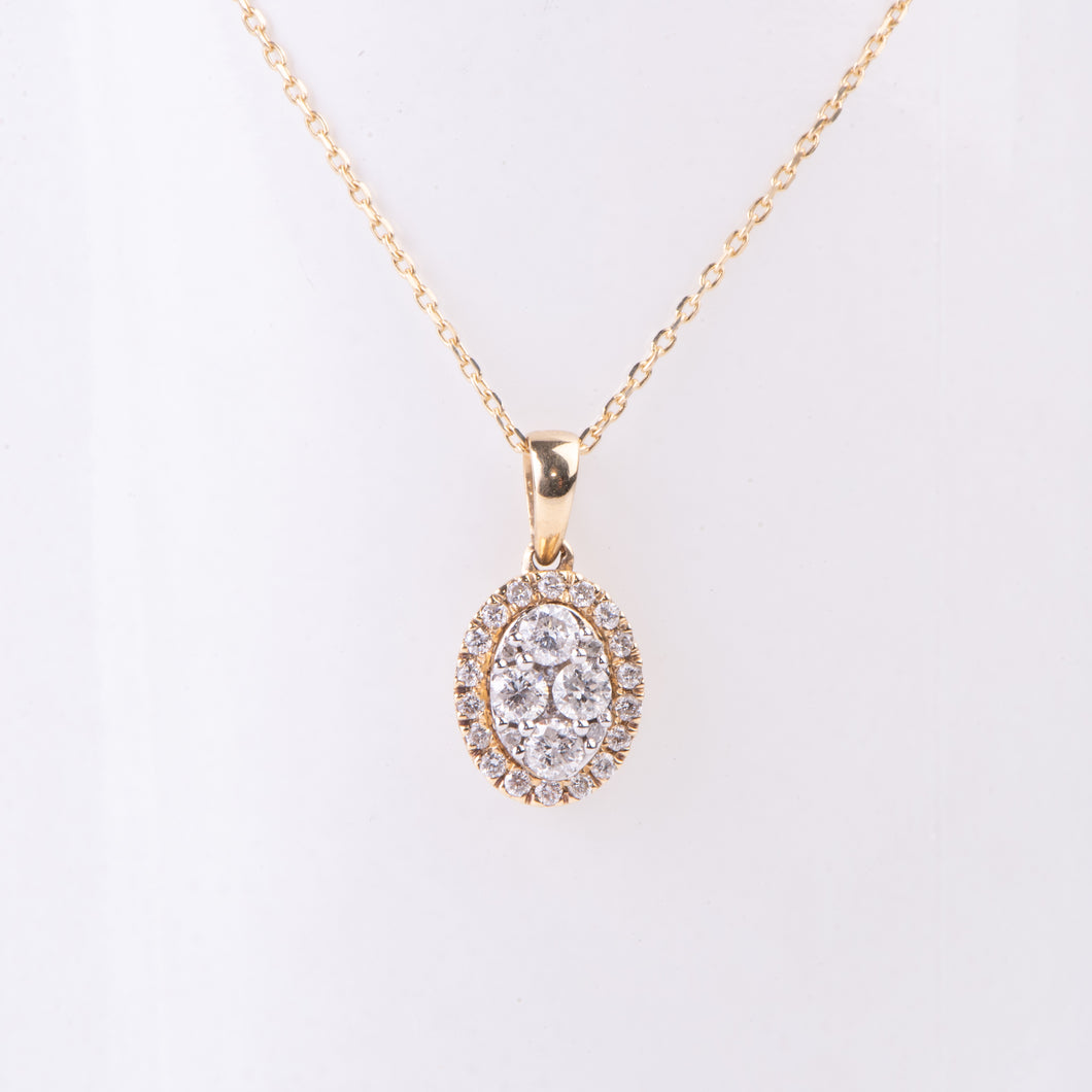 14kt White and Yellow Gold  Diamond Pendant