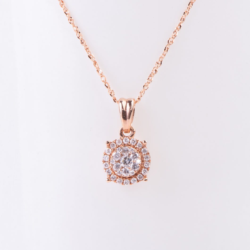 14kt Rose Diamond Pendant