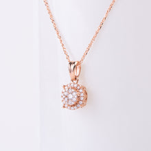 Load image into Gallery viewer, 14kt Rose Diamond Pendant
