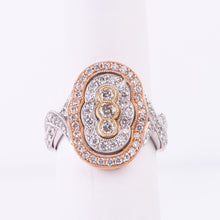 Load image into Gallery viewer, 14kt White, Rose and Yellow  Gold Diamond Ring