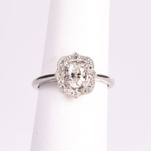 Load image into Gallery viewer, Platinum Oval Diamond Engagement Ring
