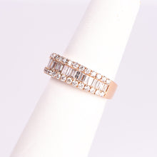 Load image into Gallery viewer, f 14kt Rose and White Gold Diamond Ring
