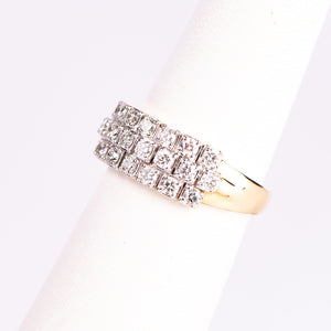 14k Yellow Gold Diamond Anniversary Ring