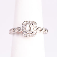 Load image into Gallery viewer, 14kt White Gold Radiant Shaped  Diamond  Engagement Ring