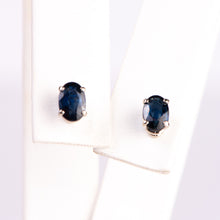Load image into Gallery viewer, 14kt White Gold Natural Sapphire Earrings