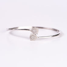 Load image into Gallery viewer, 14kt White Gold Diamond Bangle Bracelet