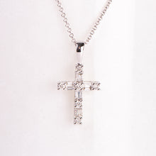 Load image into Gallery viewer, 14kt White Gold Diamond Cross Pendant