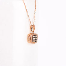 Load image into Gallery viewer, 14kt Rose Gold Cognac Diamond Pendant