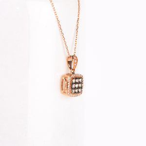 14kt Rose Gold Cognac Diamond Pendant