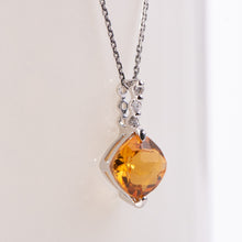 Load image into Gallery viewer, 14kt White Gold Citrine Pendant