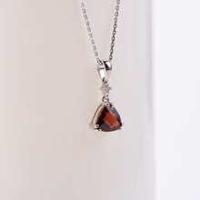 Load image into Gallery viewer, 14kt White Gold Garnet and Diamond Pendant