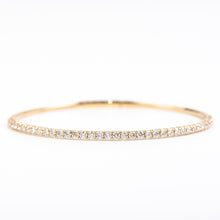 Load image into Gallery viewer, 14k Yellow Gold Diamond Bangle Bracelet