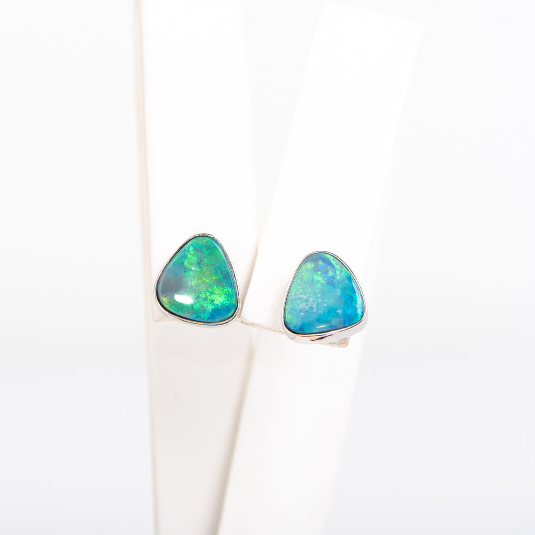 14kt White Gold and Opal Earrings