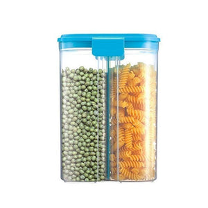 618 -2 in 1 Transparent Sealed Cans/Jars/Storage Box with 2 Grid - Gujjuseller.com