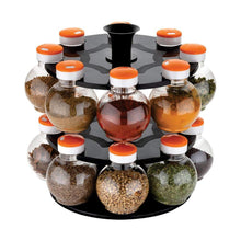 Load image into Gallery viewer, 2015_Multipurpose Revolving Plastic Spice Rack Set (16pcs) - Gujjuseller.com