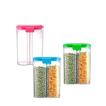 Load image into Gallery viewer, 618 -2 in 1 Transparent Sealed Cans/Jars/Storage Box with 2 Grid - Gujjuseller.com